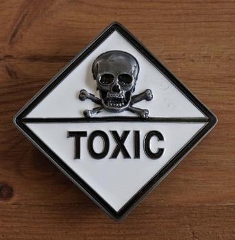 """Belt buckle   """" Toxic  Totenkopf  """""""