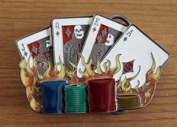 """Gürtelschnalle  """" Glücksspiel """""""