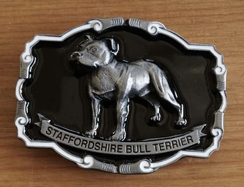 "Buckle "" Staffordshire bull terrier """