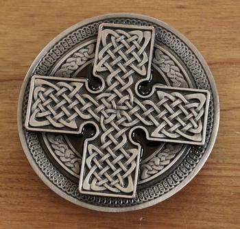 "Buckle "" Celtic cross """