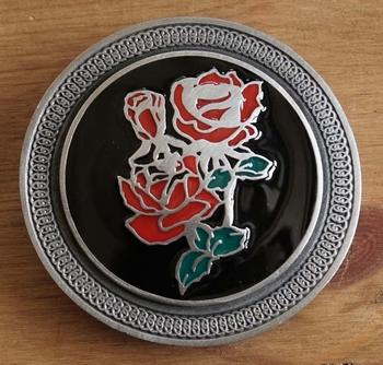 """Gürtelschnalle  """" Rot Rose """""""