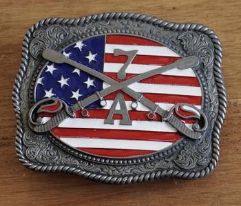 """Buckle  """"  Amerikanische Flagge mit Schwertern 7 A """""""