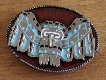 """Gürtelschnalle """" Indianer Symbol """""""