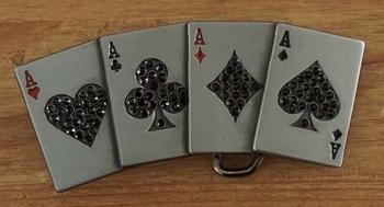 "Buckle  "" 4 Asse / Pokerhand  """