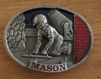 """Schließen Schnalle  """" Mason """"  ( Maurer )"""