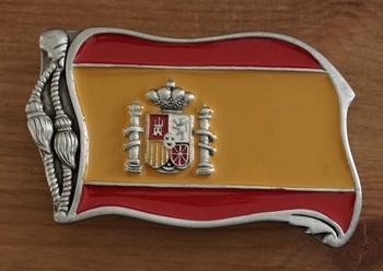 """Buckle """" Spanische Flagge """""""