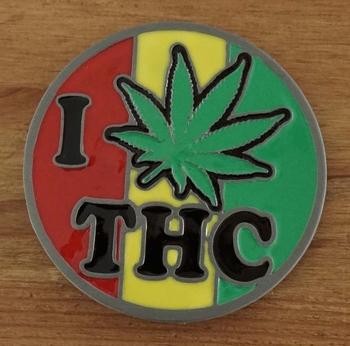 """Gürtelschnalle  """" I Marihuana  THC """""""