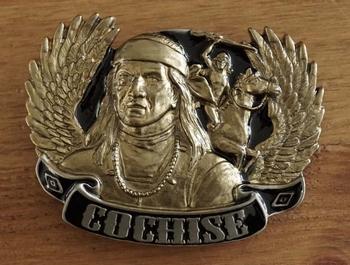 """Gürtelschnalle """" Indianer Cochise """""""
