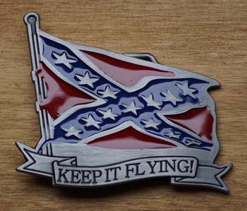 "Belt buckle  "" Keep it flying ""   Rebelflagge"