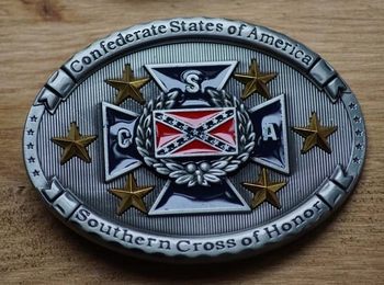 """Buckle  """" Confedrate states of America, Southern cross ..."""""""
