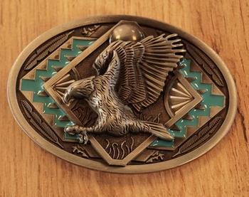 """Belt buckle  """" Adler mit indianer Zeichen """""""