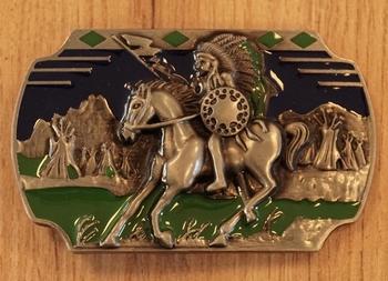 """Belt buckle  """" Indianer zu Pferd """""""