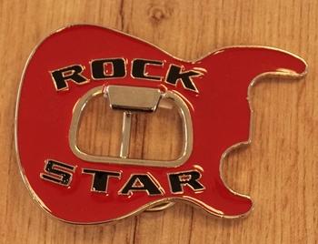 """Belt Buckle  """" Rock star """"   Red"""