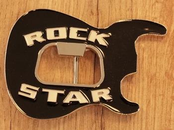 "Belt Buckle  "" Rock star ""   Schwarz"
