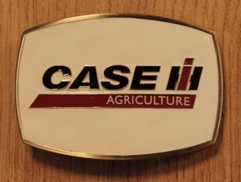 "Buckle  "" Case i agriculture ""  Weiss"