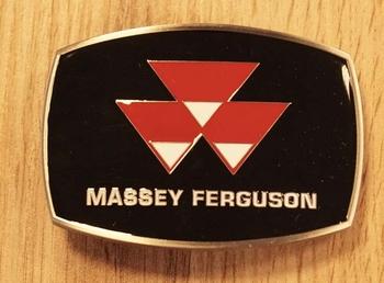 """Buckle  """" Massey Ferguson """"   Schwarz"""