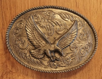 "Belt buckle  "" Gripping Eagle """