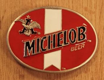 "Gürtelschnalle  "" Michelob beer "" Rot / Weiss"