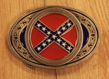 """Buckle  """" Rebelflagge """""""