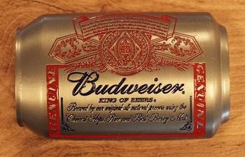 """Buckle  """" Budweiser can """"  Nikkelfarbe /   AUSVERKAUFT"""