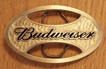"""Gürtelschnalle  """" Budweiser """""""