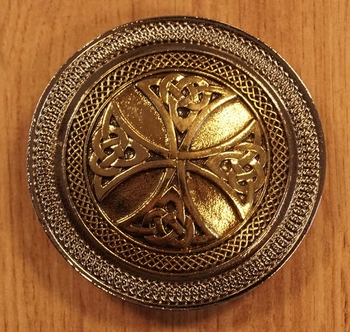 "Belt buckle ""  Celtic Cross with knot """