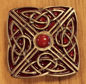"""Buckle  """" 4-teiliger Knopf """" Rot"""