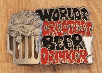 """Gürtelschnalle """" World greatest beer drinker """""""