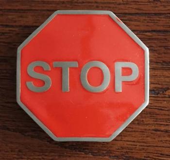 """Belt buckle  """" STOP """""""