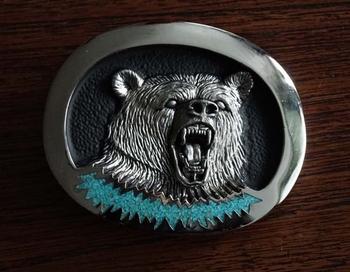 """Aztekisch Gürtelschnalle  """" Bären kopf """""""