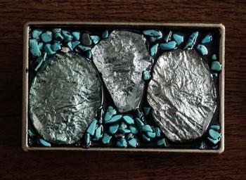 """Buckle  """" Silberfarbene Steine mit türkisfarbenen Steinen"""
