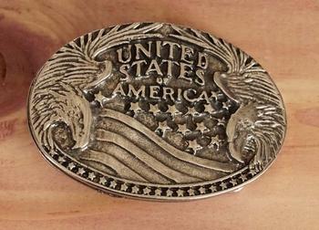 "Gürtelschnalle fur Gürtel 3 cm breit "" United States America"