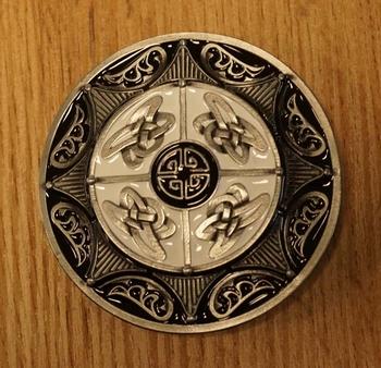 """Gürtelschnalle """" 4 keltische Knoten """""""