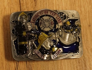 "Belt buckle "" Laying it on the line """