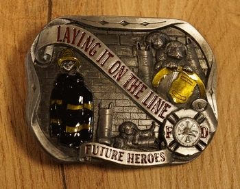 """Belt buckle """" Laying it on the line future heroes """""""