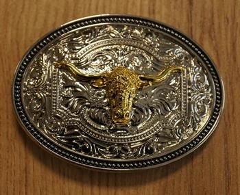 """Gürtelschnalle """" Bull skull  """""""