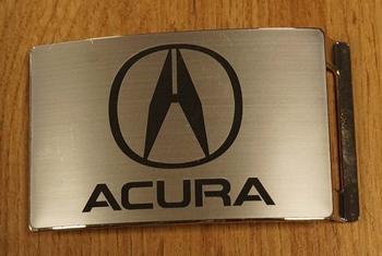 "Automarke Schnalle  ""  Acura ""   Silberfarben"