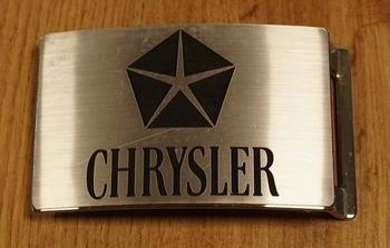 "Automarke Schnalle  ""  Chrysler ""   Silberfarben"