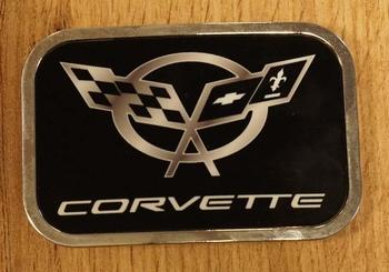 """Automarke Schnalle  """"  Corvette """"   Schwarz"""