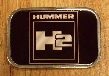 """Automarke Schnalle  """"  Hummer """" Schwarz"""
