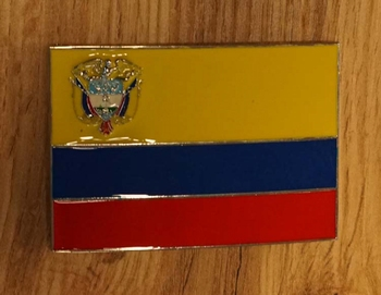 "Buckle "" Flagge von Ecuador """