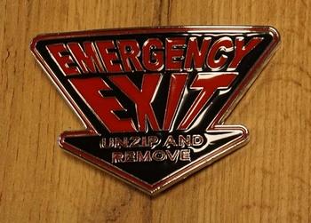 """Gürtelschnalle  """" Emergency exit """""""