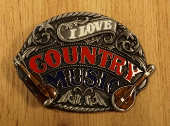 """Country Buckle  """" I love country music """""""