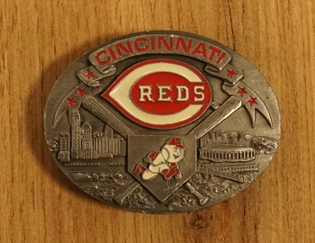 "American Football buckle "" Cincinnati Reds """
