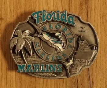 """American Football buckle """" Florida Marlins """""""
