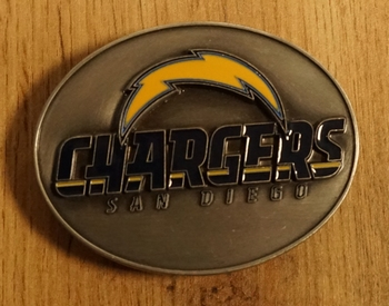 """American Football buckle """" Chargers San Diego """""""