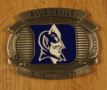 "American Football buckle "" Blue devils Duke university """