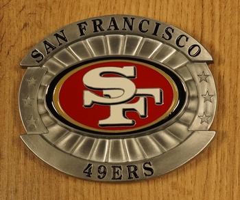 "American Football buckle "" San Francisco 49ers """