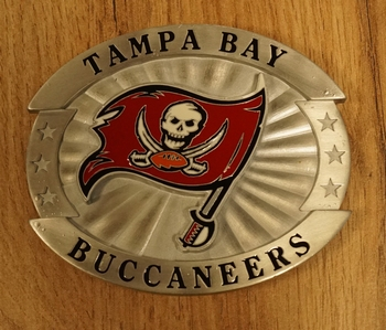 "American Football buckle "" Tampa Bay Buccaneers """