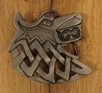 """Belt buckle  """" Keltischer Wolf """""""